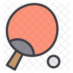 Teble tennis Colored Outline Icon