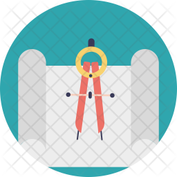 Technical Drawing Flat Icon