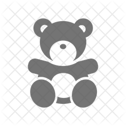 Teddy Bear Icon Of Glyph Style Available In Svg Png Eps Ai Icon Fonts