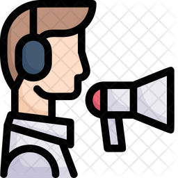 Telemarketer Colored Outline Icon