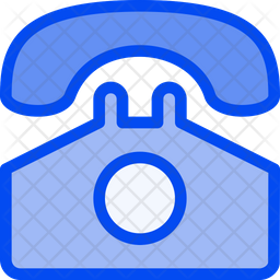 Telephone Colored Outline Icon