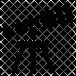 Telescope Glyph Icon