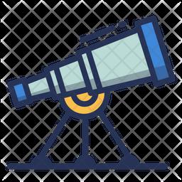 Telescope Colored Outline Icon