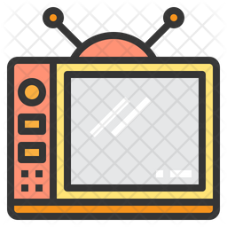 Television Colored Outline Icon