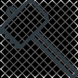 Tenderizing Line Icon