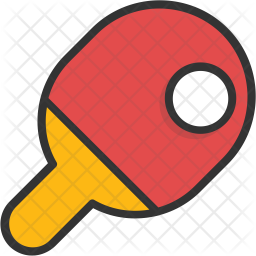 Tennis Colored Outline Icon