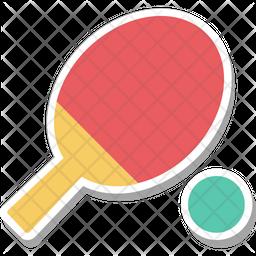 Tennis Bat Flat Icon
