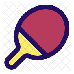 Tennis racket Colored Outline Icon