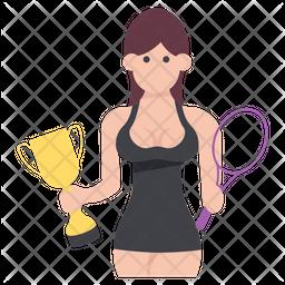 Tennis Trophy Winner Icon