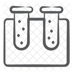 Test Tubes Doodle Icon