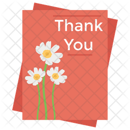 Thank You Card Icon Of Flat Style Available In Svg Png Eps Ai Icon Fonts