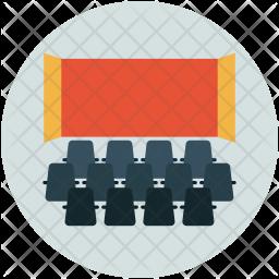 Theater Flat Icon