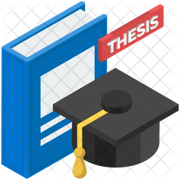 Thesis Icon Of Isometric Style - Available In SVG, PNG, EPS, AI & Icon Fonts