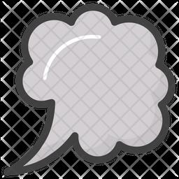 Thinking Cloud Emoji Icon