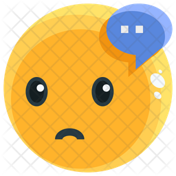 Thinking Face Emoji Icon Of Flat Style Available In Svg Png Eps Ai Icon Fonts