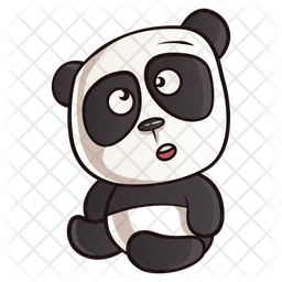 Thinking Panda Icon Of Sticker Style Available In Svg Png Eps Ai Icon Fonts