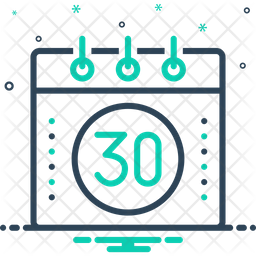 Thirty Line Icon