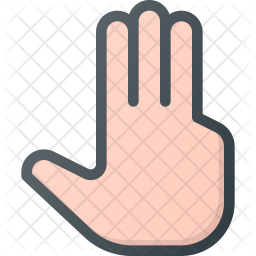 Three Colored Outline Icon