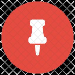 Thumb Pin Glyph Icon