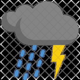 Thundering and raining Icon