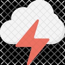 Thunderstorm Flat Icon