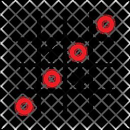 Tic Tac Toe Line Icon