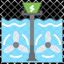 Tidal Energy Icon