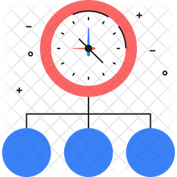 Time difference Colored Outline Icon
