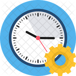 Time Management Rounded Icon