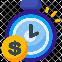 Time, Saving Flat Icon