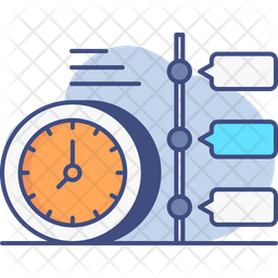 Timeline Colored Outline Icon