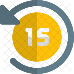 Timer Fifteen Second Gradient Icon