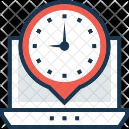 Timezone Colored Outline Icon