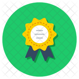 Title Medal Flat Icon