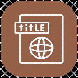 Title, Web, Website, Optimization Icon