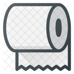 Toilet paper Colored Outline Icon