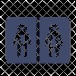 Toilet Sign Board Icon