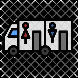 Toilet Truck Icon