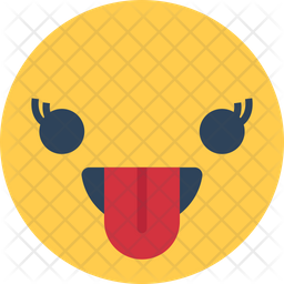 Tongue Out Flat Icon