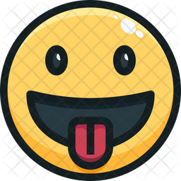 Tongue out face Emoji Icon