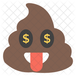 Tongue Out Poop Emoji Icon