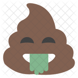 Tongue Out Poop Emoji Icon
