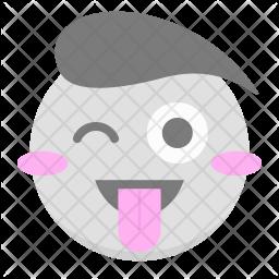 Tongue, Wink Icon