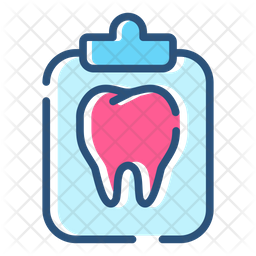 Tooth Care Colored Outline Icon