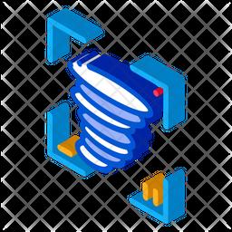 Tornado Video Isometric Icon