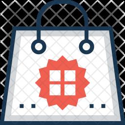 Tote Bag Colored Outline Icon