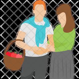 Tourist Couple Icon