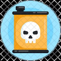 Toxic Fuel Gallon Flat Icon