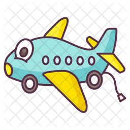 Toy Airplane Icon Of Doodle Style Available In Svg Png Eps Ai