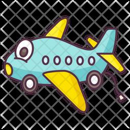 Toy Airplane Icon